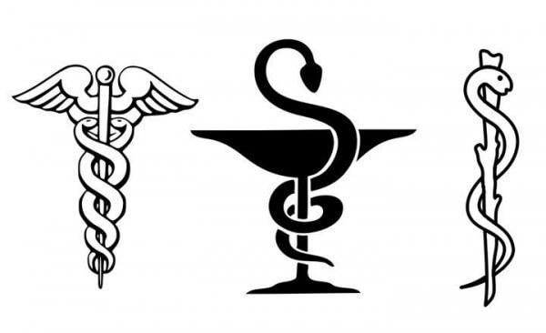 سر الثعبان كرمز للصيدليات